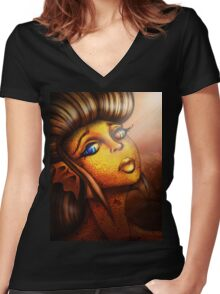 Creature Feature: The Golden Koi Women's Fitted V-Neck T-Shirt