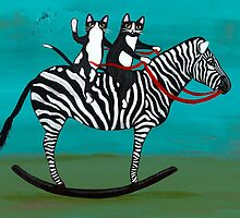 Cats on a Rocking Zebra by Ryan Conners