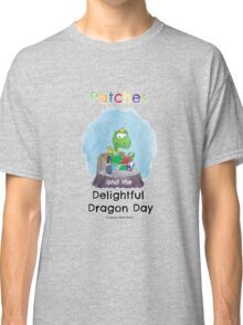 Patches turtle reading Classic T-Shirt