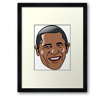 Obama Face Framed Print