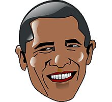 Obama Face Photographic Print