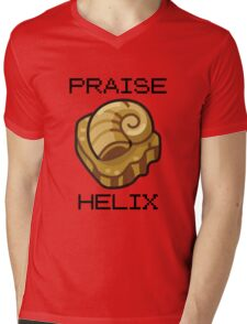 ༼ つ ◕_◕ ༽つ PRAISE HELIX ༼ つ ◕_◕ ༽つ Mens V-Neck T-Shirt