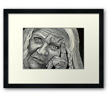 Thinking back Framed Print