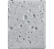 Grungy grey concrete wal iPad Case/Skin