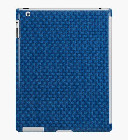 Blue fabric texture iPad Case/Skin