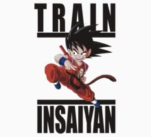 Train Insaiyan - Chibi Goku by irig0ld