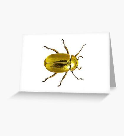 Gold Beetle Greeting Card