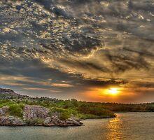 Sunset Over Refuge by chrismartintv