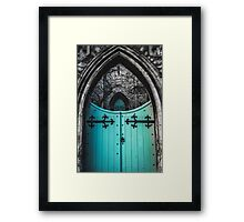 Blue Church Gates Framed Print