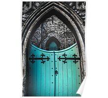 Blue Church Gates Poster