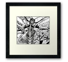 one punch man mosquito girl Framed Print