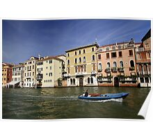 Water taxi in Venice Poster