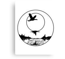 Bird Moon animal design Naturl fly Canvas Print