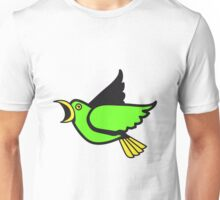 Bird flying animal cool nature comic Unisex T-Shirt