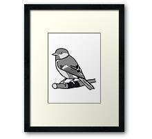 Sparrow bird animal nature design Framed Print