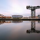 Clyde waterfront reflections by Photo Scotland