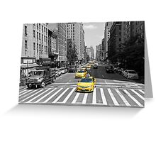 New York Taxi! Greeting Card