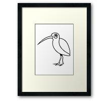 Snipe bird animal cute funny design Framed Print