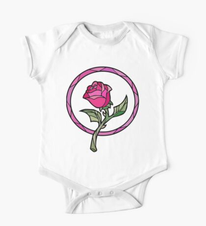 Stained Glass Rose   Beauty and the Beast One Piece - Short Sleeve