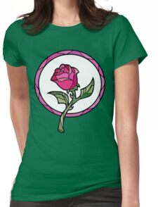 Stained Glass Rose | Beauty and the Beast Womens Fitted T-Shirt