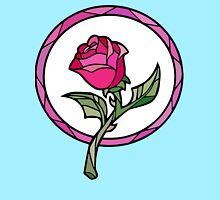 Stained Glass Rose   Beauty and the Beast Women's Relaxed Fit T-Shirt