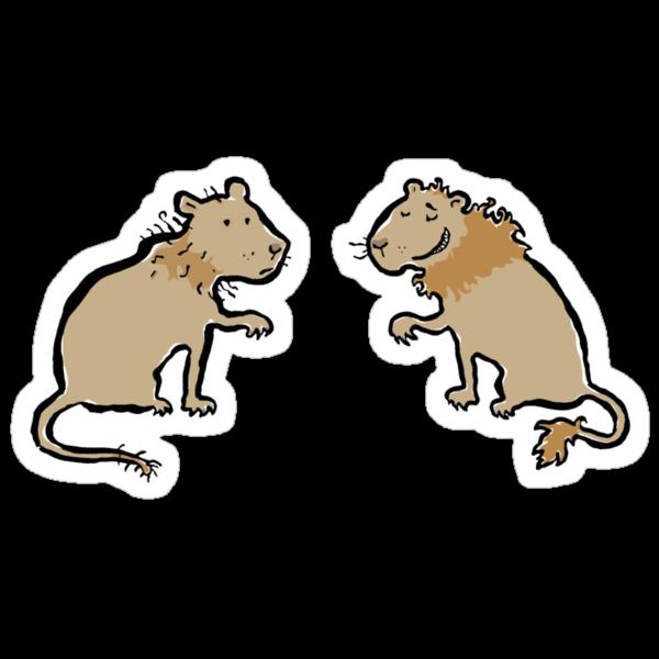 good hair - bad hair lions by greendeer