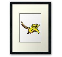 Bird animal cute funny design Framed Print