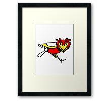 OWL bird uhu cool comic Framed Print