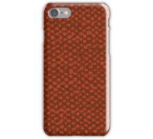 Red vinyl texture iPhone Case/Skin