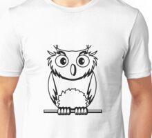 OWL bird nature uhu cool comic Unisex T-Shirt