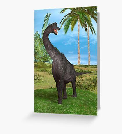 Dinosaur Brachiosaurus Greeting Card