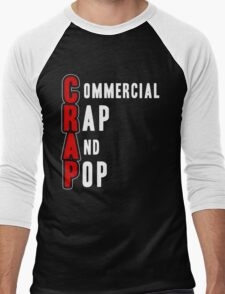 CRAP - White Men's Baseball ¾ T-Shirt