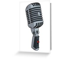 Old School Microphone Greeting Card