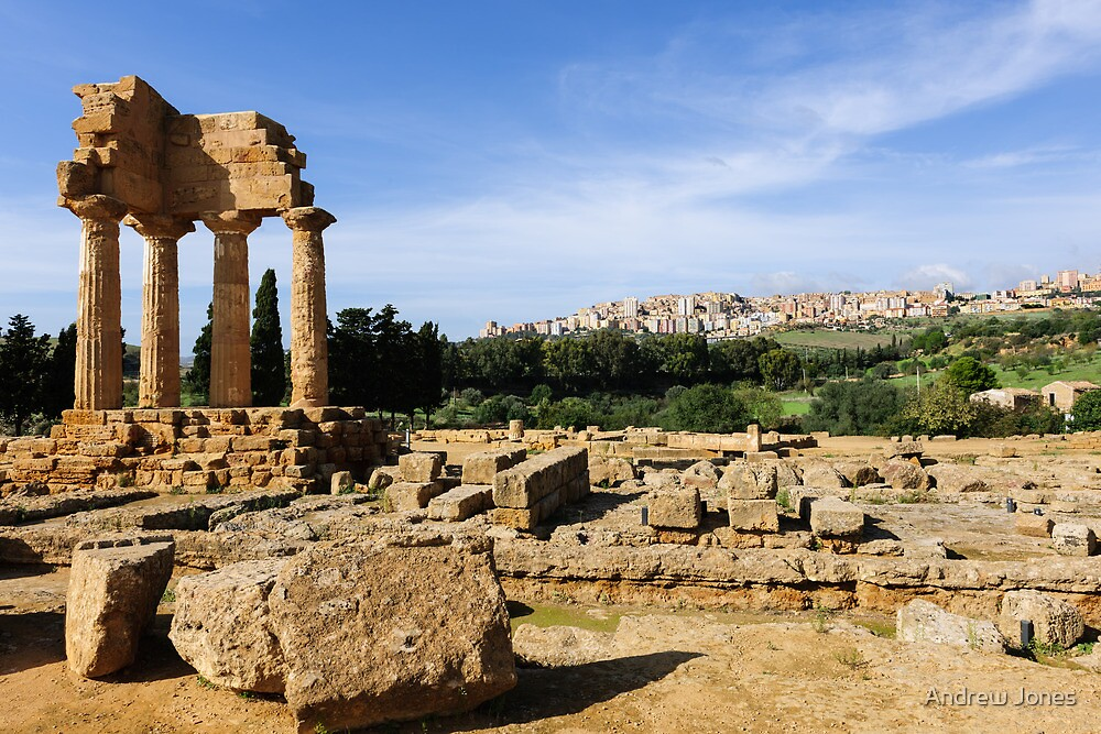 Ancient and modern, Valley of The Temples, Agrigento, Sicily by Andrew Jones