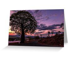 Sunset at Archers Lookout, Gayndah, Queensland Greeting Card