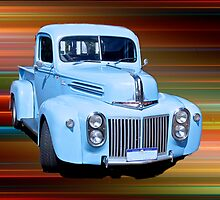 The Old Blue Ute. by Greg and Margaret Buck