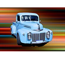 The Old Blue Ute. Photographic Print