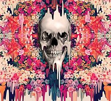 Seeing color, melting floral skull by KristyPatterson