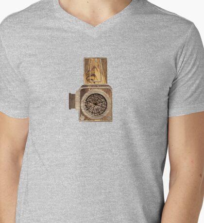 Wood Hassel Mens V-Neck T-Shirt