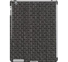Grey vinyl texture iPad Case/Skin