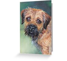 Border terrier in pastel Greeting Card