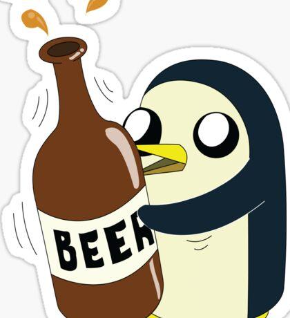 Gunter Loves Beer Sticker