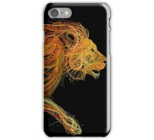 Wire Lion iPhone Case/Skin