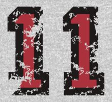 Number Eleven - No. 11 (two-color) red by theshirtshops