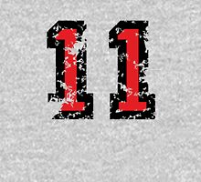 Number Eleven - No. 11 (two-color) red Unisex T-Shirt