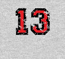 Number Thirteen - No. 13 (two-color) red Unisex T-Shirt