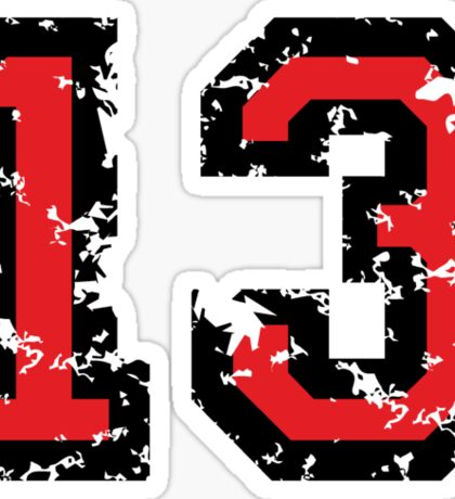 Number Thirteen - No. 13 (two-color) red Sticker