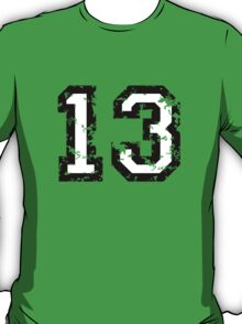 Number Thirteen - No. 13 (two-color) white T-Shirt