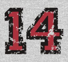 Number Fourteen - No. 14 (two-color) red by theshirtshops