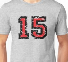 Number Fifteen - No. 15 (two-color) red Unisex T-Shirt